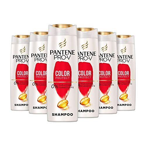 Pantene Pro-V Color Protect Shampoo, 6er Pack (6 x 300 ml), Schutz Für Gesund Aussehenden Glanz, Shampoo Damen, Haarpflege Glanz, Haarpflege, Coloriertes Haar, Gefärbtes Haar
