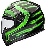 Shox Sniper Skar Motorrad Helm M Grün