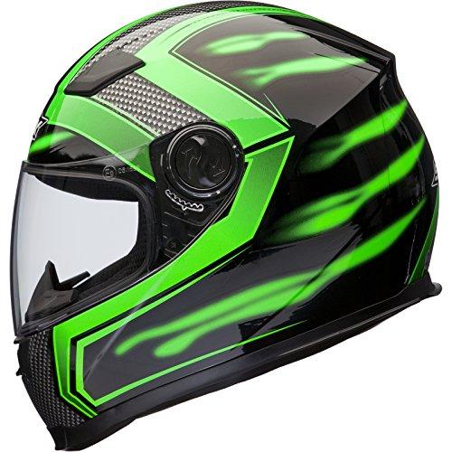 Shox Sniper Skar Motorrad Helm S Grün