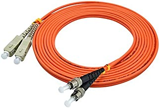 LC/SC/FC/ST 62.5/125 Duplex Multimode 3.0mm Fiber Optic Patch Cable (15m, SC-ST)