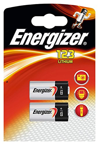 Energizer Lithium-Batterien CR123 3 V-12 Stück, 6Blister mit 2Batterien