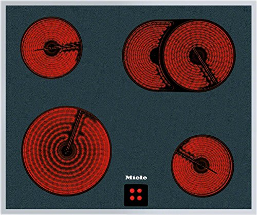 Miele KM 6024 LPT herdgesteuertes Elektro-Kochfeld / Glaskeramik/ Breite: 61,4 cm, HiLight-Beheizung, Restwärmeanzeige