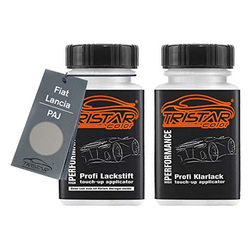 TRISTARcolor Autolack Lackstift Set für FIAT/Lancia PAJ Grigio Colosseo Metallic Basislack Klarlack je 50ml