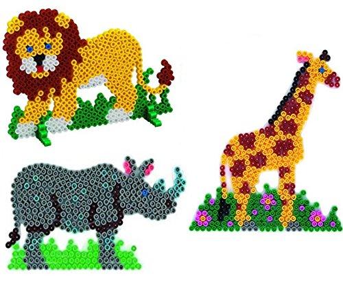 Hama Midi Stiftplatten Löwe ,Giraffe und Nashorn