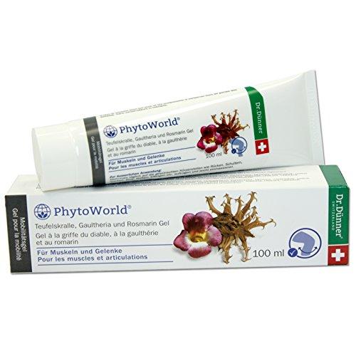 Dr.Dünner PhytoWorld Teufelskralle Gaultheria & Rosmarin Gel 100 ml | für Muskeln & Gelenke nach Belastung | Muskelgel regt Durchblutung an | Gelenkgel mit Vitamin E & Kupfer