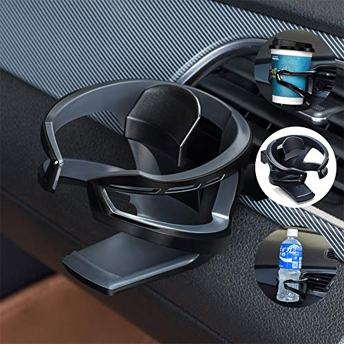 UMISKY Auto Getränkehalter, Multifunktion Getränkehalter Lüftungshalterung, Schwarz