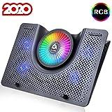 KLIM™ Nova + Base de refrigeración para portátiles RGB - 11' a 19' + Estable y silenciosa + Panel de Metal + Refrigeración para portátil Gaming Compatible con Mac y PS4 + Nueva 2020