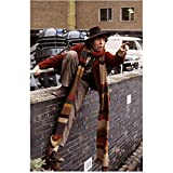 Tom Baker 8 Inch x 10 Inch Photo Doctor Who The Golden Voyage of Sinbad Nicholas and Alexandra Climbing Over Brick Wall Very Long Scarf kn