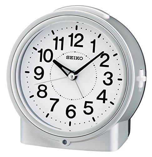 SEIKO QHE117S - Reloj Despertador con Luz y Movimiento Continuo