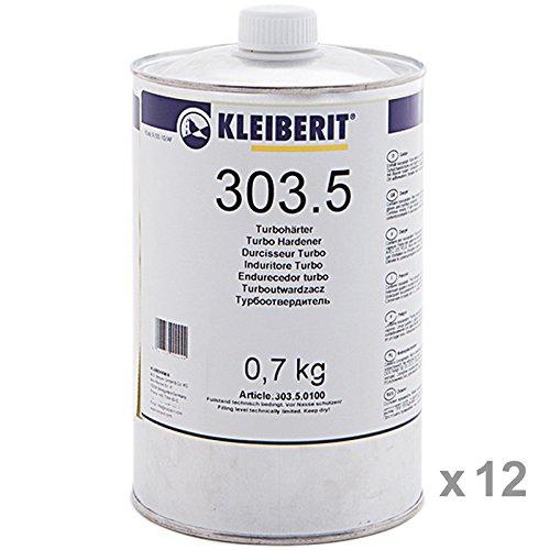 Karton 12 x 700-g-Flasche KLEIBERIT 303.5 Turbohärter für KLEIBERIT 303 für D4-Qualität