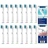 YanBan Cabezal de cepillo de dientes para Oral B,cabezales de cepillo de dientes de repuesto, compatible con Oral-B, para cepillo de dientes eletrico Braun recargable, Cross and action