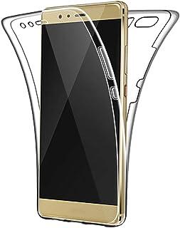 SDTEK Funda para Huawei P9 (2016) 360 Doble Delantera [Transparente Carcasa] Full Body Case Bumper Cover Suave Silicona Huawei P9 (2016)