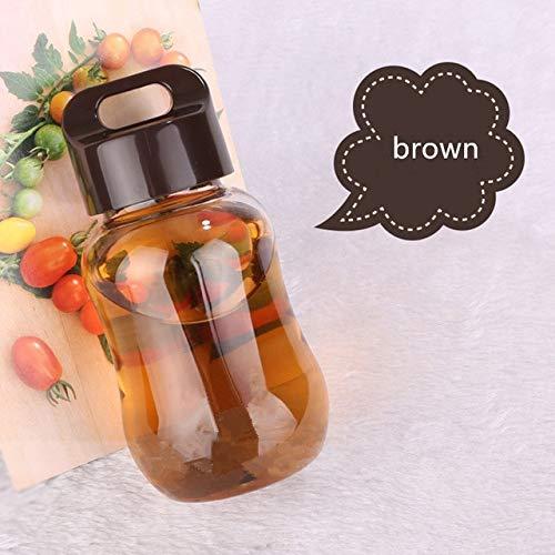 Berrd 1 180ml Plastikfarbe Wasserflasche für Kinder tragbare Schulwasserflasche für Kinder Mini süße Wasserflasche - 1, Kaffee 1St