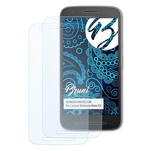 Bruni Schutzfolie kompatibel mit Lenovo Motorola Moto E3 Folie, glasklare Bildschirmschutzfolie (2X)