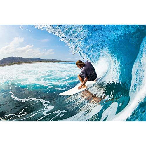GREAT ART® Póster – Surfer - Playa Deporte Olas sufista