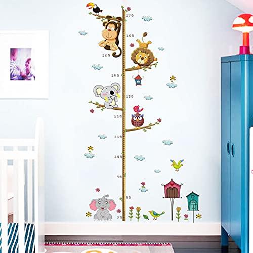 Horolas - Adesivo da parete rimovibile per bambini, misura altezza della crescita, decorazione della stanza