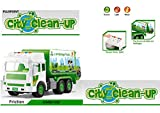 PLUSPOINT Exclusive Collection of Die Cast Metal Garbage Truck ,City Service,Waste Management Truck with Trash Bin, Metal Recycling Garbage Truck Toys for Kids Boys (Clean up Truck)