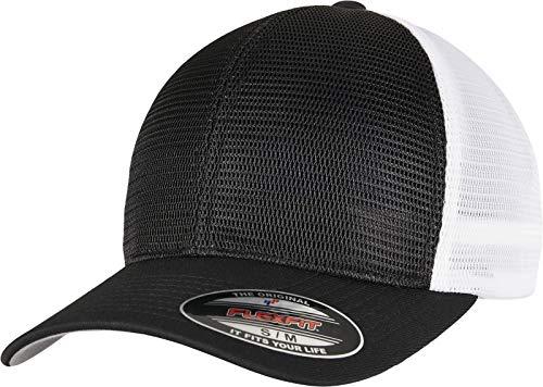 Flexfit Unisex 360 OMNIMESH Cap 2-Tone Baseballkappe, Black/White, S/M