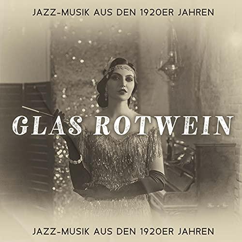 Glas Rotwein: Jazz-Musik aus den 1920er Jahren, Retro-Gelassenheitscafé, Ruhiger Moment, Mitternachtscafe, Gefühlvolle Ballade, Brunch und Kuchen