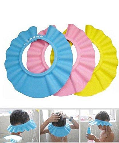 DAYAN Douche souple bébé Enfants Enfants Shampooing Bain Chapeau laver les cheveux Bouclier 3 couleurs (couleur aléatoire)