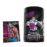 Fan Edition B.A.M. Train HARDER Intra Workout Supplement EAA & BCAA 2:1:1 Komplex inkl. Jil Poster...