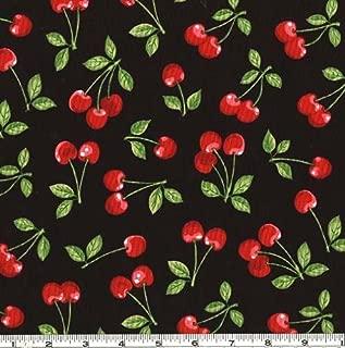 Robert Kaufman Cherries Black Fabric By The Yard