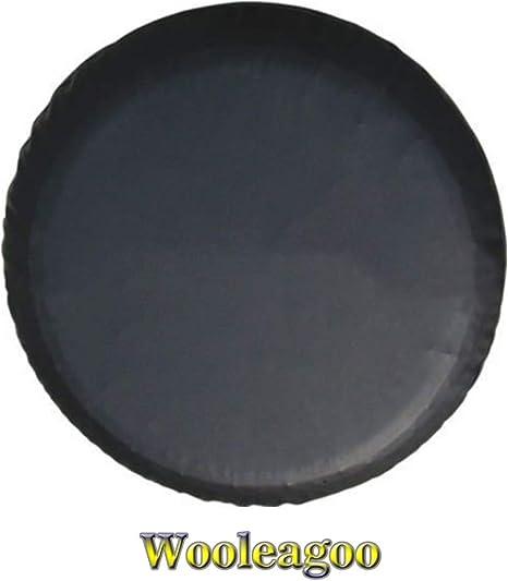 Wooleagoo Funda protectora de cuero para rueda de repuesto para Mitsubishi resistente PVC negro suave bolsa de polvo (15 pulgadas)
