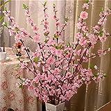 Cozyhoma Künstliche Kirschblütenzweige aus Seide, Frühlingspfirsichblüten, künstliche Blumenarrangements für Zuhause, Hochzeitsdekoration, 10 Stück