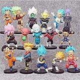 HHAA 16 Unids/Set Dragon Ball Z Son Goku Vegeta Mini Figura De Acción Super Saiyan Figura Niños Regalo Figurita Juguetes