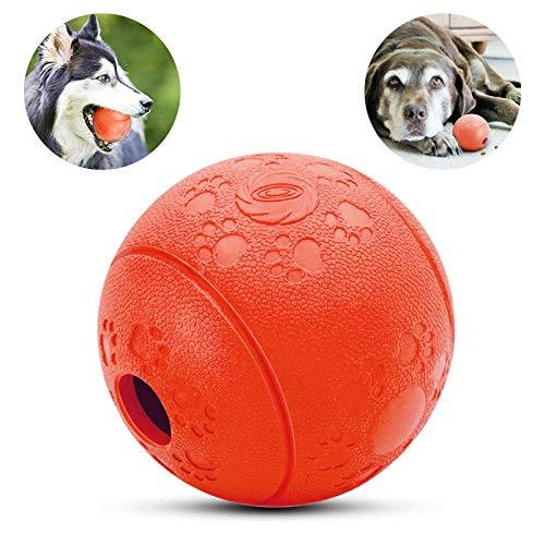 PEDOMUS Hundeball Spielzeug, Hunde-Spielzeug,Hund Kauen Ball,Hund Essen behandeln Futter für Haustiere Hunde Spielen Traning Zähne Reinigung.Hundeball Ø 8cm (Rot)