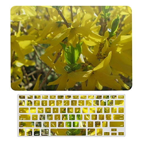 Macbook Air 13 Inch Case(A1369 & A1466, Older Version 2010 2017 Release), Plastic Hard Protective Laptop Case Shell With Keyboard Cover, Pillow Forsythia