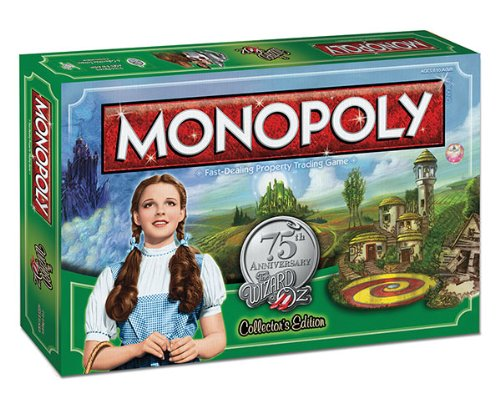Monopoly The Wizard of Oz Board Game, 75th Anniversary Collector's Edition
