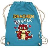 Tiermotive Kind - Drachen Zähmer - Unisize - Hellblau - sporttasche kinder - WM110 - Turnbeutel und...