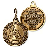 St. Francis antique bronze dog Tag, made in USA
