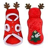 Froiny 1 Pc Ropa Perro Navidad Ropa Pequeño Perros Papá Noel para Pug Chihuahua Yorkshire Pet Cabra Compaña Abrigos Mascotas Disfraz