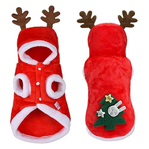 Froiny 1 Pc Ropa Perro Navidad Ropa Pequeo Perros Pap Noel para Pug Chihuahua Yorkshire Pet Cabra Compaa Abrigos Mascotas Disfraz