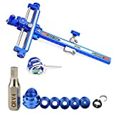 AMEYXGS Archery Compound Bow Sight with 6x/8x Magnification Lens and 45 Degree Peep Sight with Clarifier Lens Hunting Accessories for Practice Shooting (Blue, 1.0/8x)