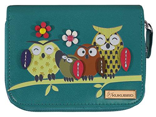 kukubird Owl Family Tree - Bolso de mano para mujer, tamaño mediano Size: M
