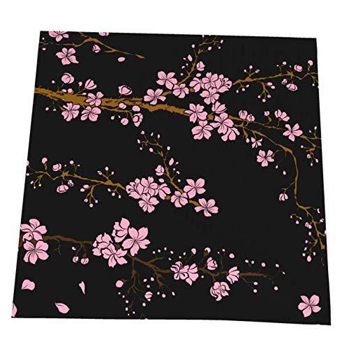 Ye Hua Aprikosenblumenset für Tätowierung Japanische Blumen Tischsets Polyester Waschbare Tischsets für Küche/Esstisch Bauernhaus Tischdekoration 2er Set