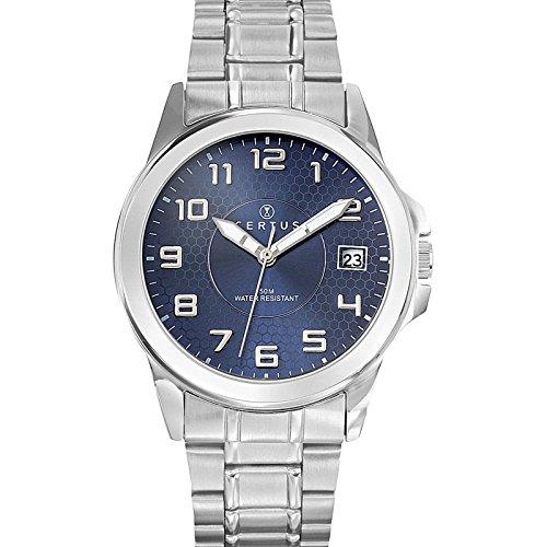 Certus Herren Analog Quarz Uhr mit Edelstahl Armband 616222