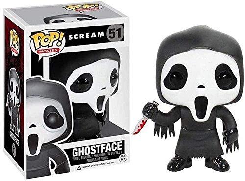 ZSDD Figura Pop! Scream - Figura de Vinilo Coleccionable de Ghost Face Film Master Ilustracion Coleccionable de la Serie de peliculas de Terror 10cm