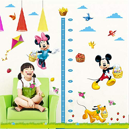 Kibi Pegatinas Infantiles Pared Minnie Pegatinas Decorativas Pared Medidor Altura Mickey Mouse Stickers Pared Mickey Dormitorio Calcomanias para Niños Pared Calcomanias Mickey