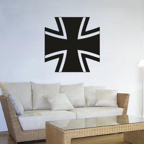 Bundeswehrkreuz Bwk Wappen Abzeichen Emblem Wandtattoo 45x45cm #3439