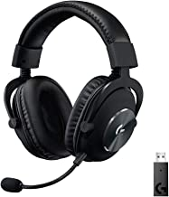 Logitech G PRO X Wireless Lightspeed Gaming Headset with Blue VO!CE Mic Filter Tech, 50 mm PRO-G Drivers, and DTS Headphon...