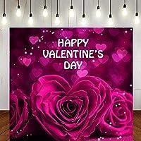 HD6x6ftバラバレンタインデーの背景ハート型のバラ写真背景スタジオ小道具大人の自画像LLST002