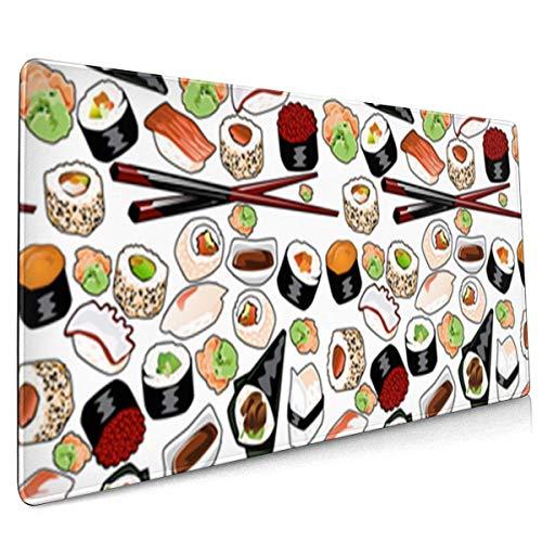 Größere Gaming Mauspad Trousse Thunfisch Sushi wasserdichte Optimale Gleitfläche...
