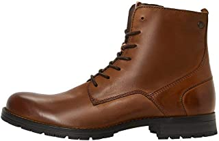 Jack & Jones Jfworca Leather Cognac 19 STS, Chukka Boots Homme