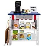 WOOMAX - Supermercado juguete Madera con Accesorios Tienda mostrador juguete Luz, Sonidos, Caja...