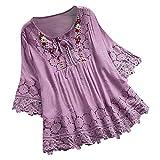 Fossen MuRope Blusas y Camisas de Mujer Verano Moda Camisa Mujer Talla Grande Damas, Mujeres
