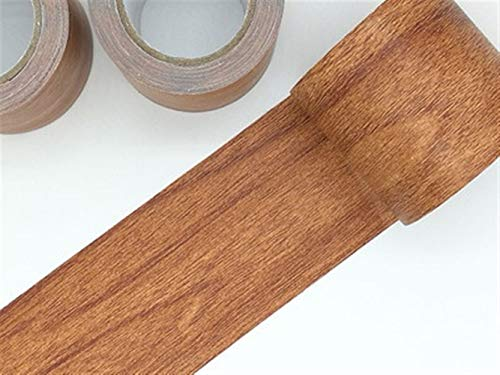 NO LOGO 1pc nach Maß Holz Klebeband synthetische wasserdichte Reparaturband abdichten Gaps Masking Dekorative Tape-57mmx4.6m (Farbe : Grey)